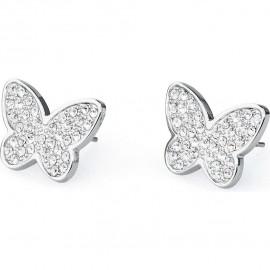 orecchini s'agapò fantasia farfalla con cristalli