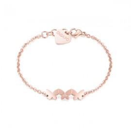 BraccialeS'Agapò collezione Trio a farfalla rosato con cristallo