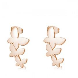 Orecchini S'Agapò collezione Trio a farfalla rosato