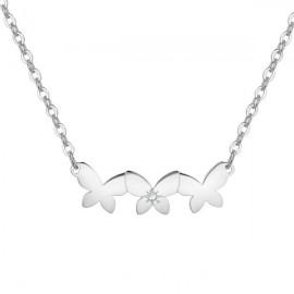 Collana donna S'Agapò collezione Trio a farfalla con cristallo