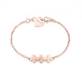 Bracciale S'Agapò collezione Trio quadrifoglio con cristallo rosato
