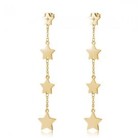 Orecchini S'Agapò collezione Fancy stelle dorato