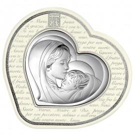 Icona cuore Beltrami Madonna con bambino