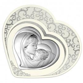 Icona a cuore Beltrami Madonna con bambino pizzo