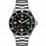 orologio ice watch steel black silver large