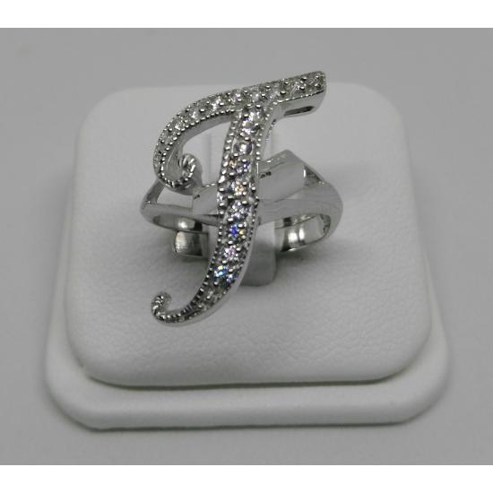 Collana con iniziale in argento grande