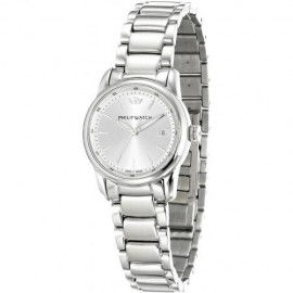 orologio philip watch kent white silver