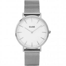orologio cluse la bohème mesh silver/white