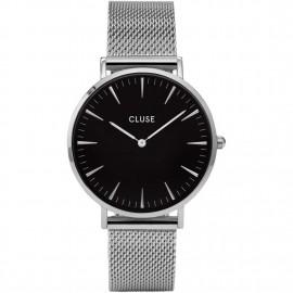 orologio cluse la bohème mesh silver/black