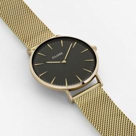 orologio cluse la bohème mesh gold/black