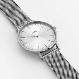 orologio cluse la bohème mesh full silver