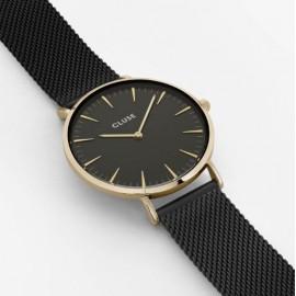 orologio cluse la bohème mesh gold black/black