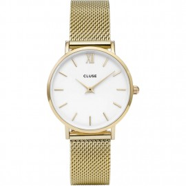 orologio cluse minuit gold/white