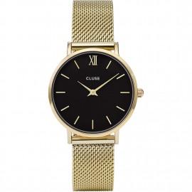 orologio cluse minuit mesh gold/black