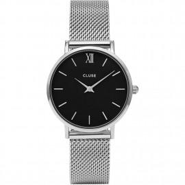 orologio cluse minuit mesh silver/black
