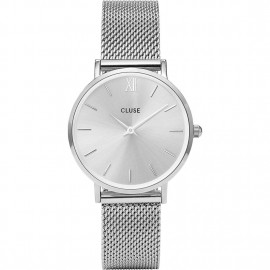 orologio cluse minuit mesh full silver