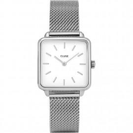 orologio cluse la tétragone silver mesh/white