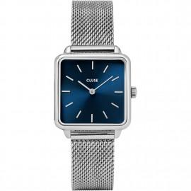 orologio cluse la tétragone mesh silver/marine blue