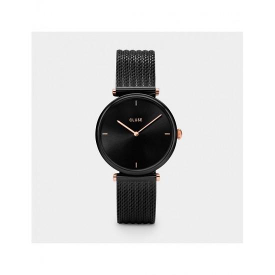 orologio cluse triomphe mesh black/black