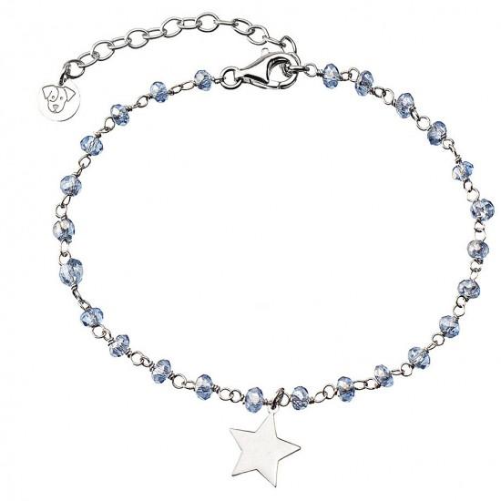 bracciale jack&co stella con cristalli celesti