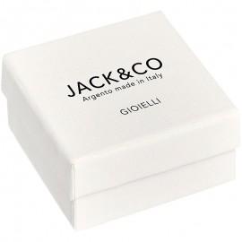 bracciale jack&co mini pepite e croce rodio nero