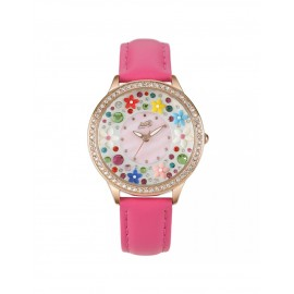Orologio donna Didofà Diamonds rosa floreale