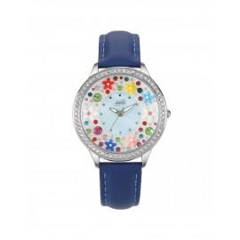Orologio donna Didofà Diamonds blu floreale