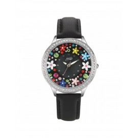 Orologio donna Didofà Diamonds nero floreale