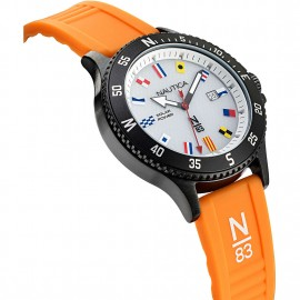 orologio nautica n83 silicon orange