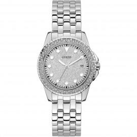 Orologio donna Guess silver e cristalli glietter