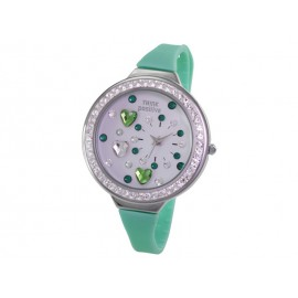 Orologio Donna Think Positive Hearts Tunnel Verde acqua