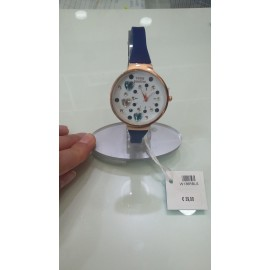 Orologio donna Think Positive Hearts blu scuro rosato