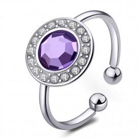 anello s'agapõ light violetcristal collezione luna
