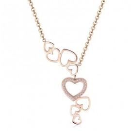 Collana donna S'Agapò Mad Love acciaio rosato