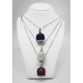 Campanella pendente zirconata in argento L