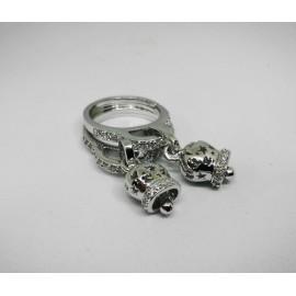 Anello Campanella traforata in argento.