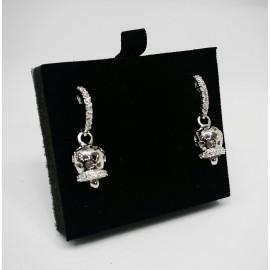 Campanella orecchini traforati argento