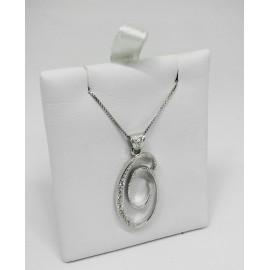 Collana con iniziale grande in argento