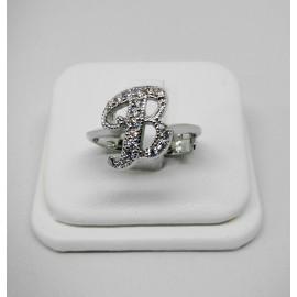 Anello con iniziale piccola in argento