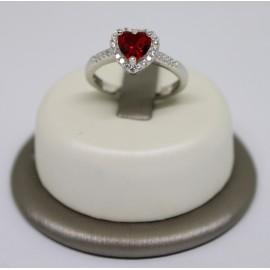 Anello cuore con zircone in argento 925/100 RI7424R