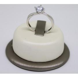 Anello solitario in argento 925/1000 ANS01