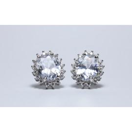 Orecchini Regina Elisabetta in argento 925/1000 Bianco