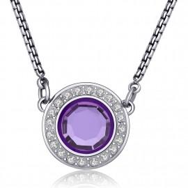 collana s'agapò cristallo viola collezione luna