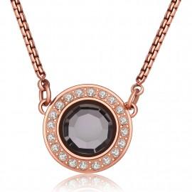 collana s'agapò cristallo nero collezione luna