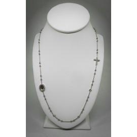 collana rosario girocollo in argento 925