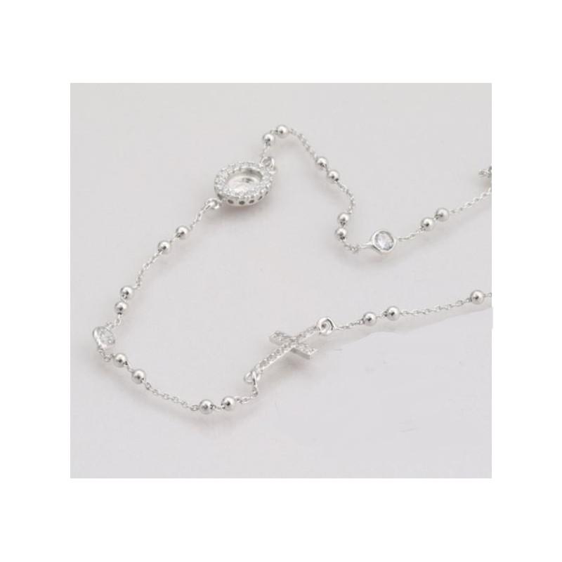 nuovo arrivo 07213 6f21e collana rosario girocollo in argento 925 - Gioie Gioielli SrlS
