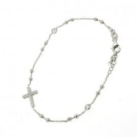 Bracciale rosario in argento 925